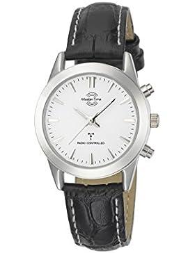 Master Time Funk Advanced Series Damenuhr MTLS-10321-42L, Leder Armbanduhr Schwarz