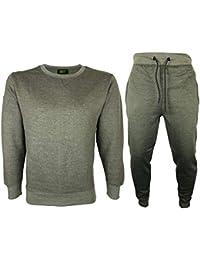 ICONIC Men Slim fit Round Neck jogging suit Full Tracksuit Sweat Shirt  Bottoms Top Fleece 02f68a7f95938