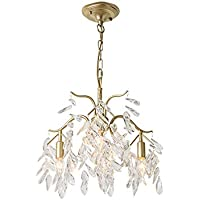 XBDD American Country Chandelier, Living Room Dining Lamp Creative Light Luxury Bedroom Crystal 3 Chandelier