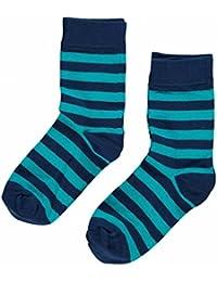Maxomorra Calcetines Dos Pack - Blue / turquesa rayas