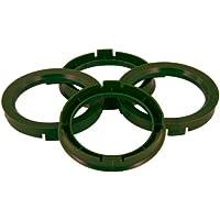 Set mozzo ruota TPI–Anelli 67.1- > 65.1mm, colore: verde oliva - Quattro Hub Centric Anelli