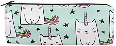 Unicorn Cats Cats Cats Cute Trousse Sac pochette pour l'école enfants garçons filles étudiant avec fermeture à glissière ronde Maquillage Sacs B07HNRGN8M | Couleur Rapide  e30b69