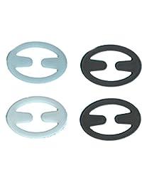 4Racer Back Bra Clips–2Blanco, 2negro–soportes para sujetador, diseño de amapola