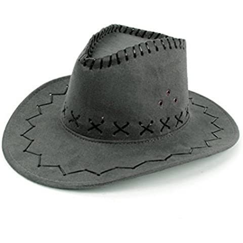 NYKKOLA occidentale Authentic Gunslinger Cappello Camoscio Cappello da cowboy unisex
