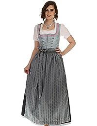 Turi Landhaus Damen Dirndl lang festliches Dirndl in zwei Farben mit eleganter Taftschürze