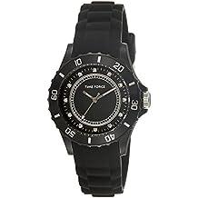 Reloj TIME FORCE de señora. Caucho negro. Piedras brillantes TF-4024L01