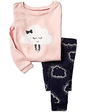 Niños pijamas de renos establece ropa de los niños Set niños de Navidad algodón Pjs ropa de dormir