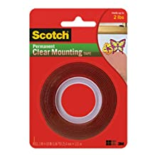 Scotch  Clear Mounting Tape 410P  1 in x 60 in x 0.045 in  25 4 mm x 1 52 m