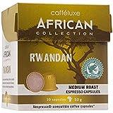 100alta calidad Gourmet Espresso 3remis apseln | Comercio Justo | gorda cafféluxe Espresso Café Nespresso® * compatible Cápsulas de Café | |, Rwandan Medium Roast 40ml