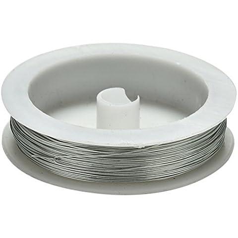 Welecom 40m hierro Craft alambre bobina de 0,5mm suave DIY cadena joyas manualidades alambre de metal