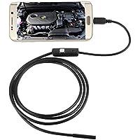 5,5mm Endoscopio Boroscopio Cámara Tubo de Inspección Impermeable para Android Teléfono con USB 6 Leds 5m Largo