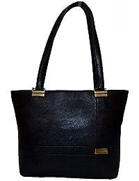 Fashion Fanda™ Women's Stylish Black Solid Shoulder Bag (Size : 41 X 12 X 29 Cm) [FF014]