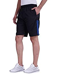 Trinity Jeans Company 2.0 Men's Polyester Stripped Shorts (Blue, Large)