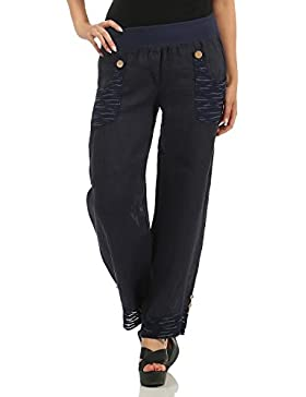 ZARMEXX pantalones de lino de la
