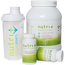 Nutri-Plus Stoffwechselkur Basis Paket (Eiweißpulver + A-Z Präparat mit Omega 3+ Stoffwechsel Aktiv mit OPC + Shaker) 30 Tage Kur