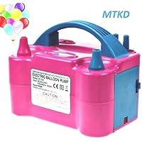 Inflador Eléctrico de Globos MTKD, Bomba electrica para Inflar Globos. Ideal para Fiestas y Eventos. Alta Potencia 600W Certificado CE. Color Fucsia.