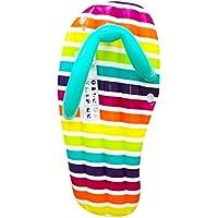 IGGI 5ft Riesige aufblasbare Flip Flop Pool Liege Air Bett Wasser Spielzeug, Mehrfarbig–Stripe