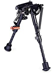 Zeadio ajustable Bípode para Rifle Pistola de aire (6 - 9 pulgadas) [1 año de garantía], ZBP-F11