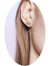 29e5c9bf8963 AG Pendientes de Botón para Mujer Moda Pendientes de Reloj Salvaje para  Mujer Temperamento