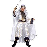 Fiori Paolo 27512–Príncipe del Desierto disfraz niño 5-7 anni blanco / negro