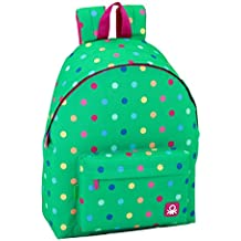 Safta Mochila juvenil Day Pack Ucb Dots Green Oficial 330x150x420mm
