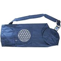 Berk YO-15-BL Meditations-Zubehör - Yoga Tasche mit Blume von Lebens, blau preisvergleich bei billige-tabletten.eu