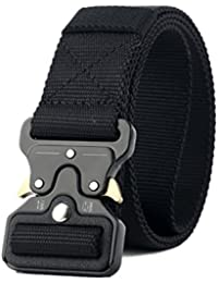 f20684748b8 Jelinda Men s Tactical Belt Nylon Military Style Webbing Belt with Metal  Buckle