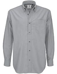 B&C - Camisa de manga larga Modelo Oxford (Tallas grandes) para Hombre Caballero - Fiesta/Trabajo/Eventos importantes