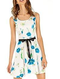 Bestyledberlin robes femmes, robe floral k64p