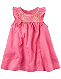 Carters Baby Girls Flutter Sleeve Linen Dress 24 Months