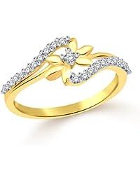 83984c18b4 Classic Star Gold Plated Alloy & Brass Cz Amercian Diamond Finger Ring for  Women & Girls