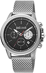 Just Cavalli Black Dial Stainless Steel Analog Watch For men