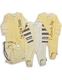 The Essential One - Unisex Schlafanzuge/Schlafanzug/Einteiler/Strampler mit Spruch (3-er Pack mit Beutel) - ESS118