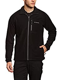 Columbia AM3039 Fleece Fast Trek II Full Zip Forro polar, Hombre, Negro (Black), L
