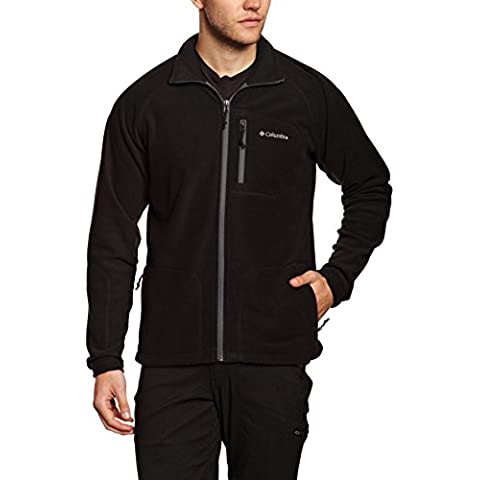Columbia Fast Trek II Full Zip Fleece - Forro polar para hombre, color gris oscuro, talla L