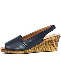 Sandalia piel Oh! my Sandals 3300 Cuña Marino