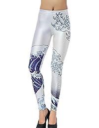 Aivtalk Vogue Leggings Skinny Pantalones Lápiz Elásticos Pantalón Largo Pants para Mujer Chica - Estampado Moda