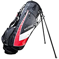 Cougar Gatto Nero Golf Set completo 10 Club Free Stand Bag 3 legni 6 Ferri Putter, Phoenix Black/Red Graphite woods-steel lrons - Borse Grafite Stand