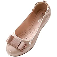 Baymate Mujer Sólido Bailarina Sin cordones Puntera Redonda Cerrada Plegable Zapatos Piso