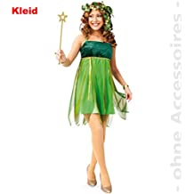 Elfenkostüm Damen Elfen Kostüm Feekostüm Märchenkostüm Feenkostüm grün S 36/38 Kostüme & Verkleidungen