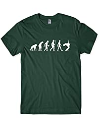 Evolution of a Guitarist Mens Guitar Player T-Shirt Gift (Medium, Forest Green)