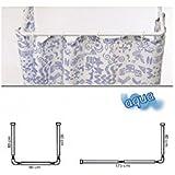 Maurer 4042202 - Barra aluminio para cortina ducha, universal, 80 x 170 cm,color blanco