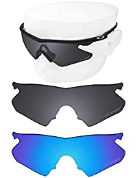 7faf60dc38 OOWLIT 2 Pair Replacement Sunglass Lenses for Oakley M Frame Heater  POLARIZED