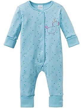 Schiesser Mädchen Zweiteiliger Schlafanzug Einhorn Baby Anzug mit Vario