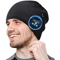 COTOP Gorro Bluetooth 5.0 Regalos originales, regalo para hombres, mujeres, cálido y suave gorro de invierno con música y auriculares inalámbricos estéreo HD para deportes al aire libre