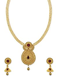 Zaveri Pearls Traditional Long Necklace Set For Women -ZPFK5118