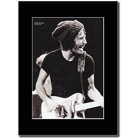 Bruce Springsteen - Hammersmith odéon de fin de semana Promo 1975 en relieve de mujer con de color negro