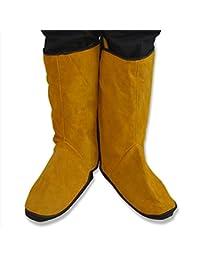 Un par de zapatos de protección soldadura de vaca nuzamas pies para soldador inflamar retarding