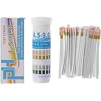 Mentin 150 Bandes Papier De Test De PH en Bouteille PH 4,5-9,0 pour Indicateur D'urine Et De Salive
