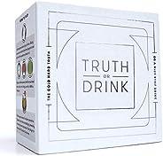 Truth or Drink Verdad o Bebida: Divertido Juego de Cartas para Beber para Adultos, Ideal para Fiestas y Noches